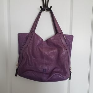 GIVENCHY Purple Tinhan Lamb Leather Shoulder Purse